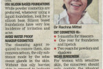 Do's and Don'ts of cosmetics - an article by Dr. Rachna Mittal published in TOI