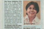 Article on Facial Contouring by Dr. Rachna Mittal in TOI