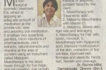 An Article on Mesotherapy By Dr. Rachna Mittal Published in HT May 22, 2014