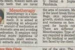 Article by Dr. Rachna Mittal on Mesotherapy Published in HT