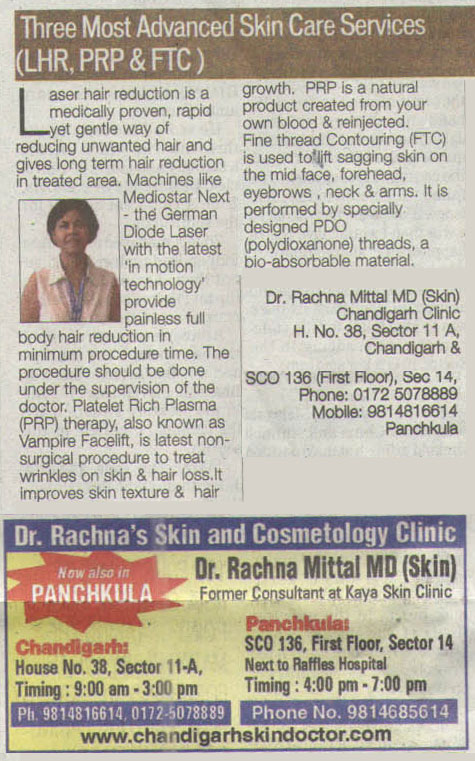 Skin Care Services in Chandigarh